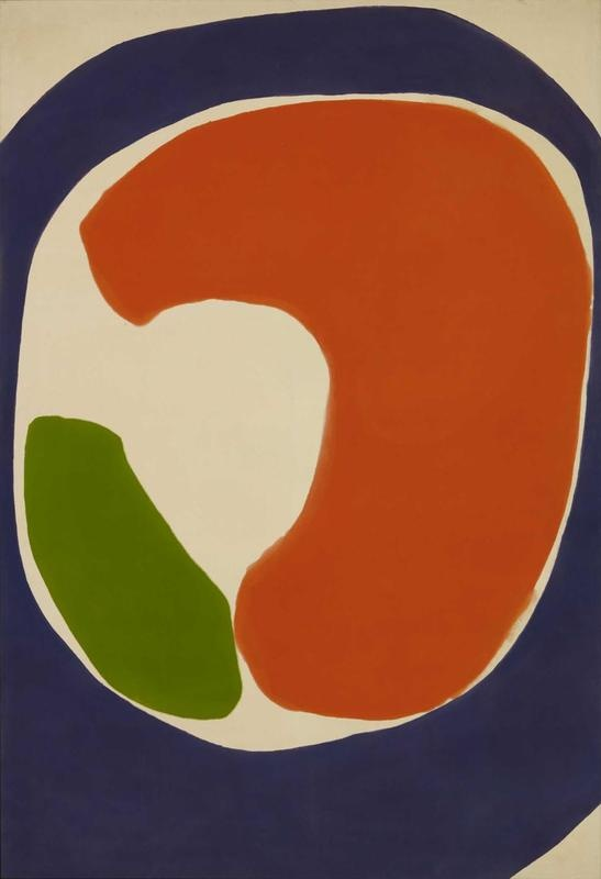 Jules Olitski, Purple Golubchik, 1962, Magna acrylic on canvas, private collection.: Canvas