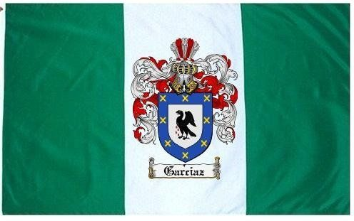 $49.99 Garcia Family Crest / Coat of Arms Flag. Large 3 ft. x 5 ft. polyester flags.