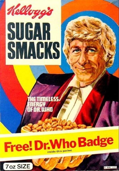Sugar Smacks, with Doctor Who badge
