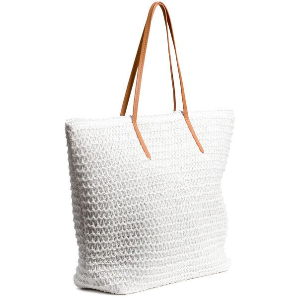 H&M Shopper $9.99 ($9.99) ❤ liked on Polyvore featuring bags, handbags, tote bags, zipper handbags, shopping tote, shopping tote bags, zipper tote and h&m purses