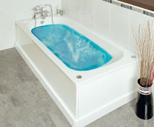 Olympo  €110.00      1700 mm 700 mm     400 mm Total Depth     Manufactured from 5 mm Thick Acrylic     Single Ended Design     No Tap Holes Pre-Drilled     Comes with Leg Set     Waste NOT included     Available with a Whirlpool system as an optional extra
