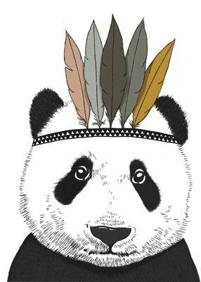 Affiche Panda indien - Minimel - fée pas ci, fée pas ça