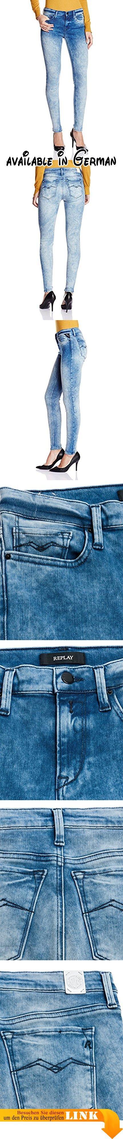 Replay Damen Jeggings Jeanshose Joi, Gr. W25/L32 (Herstellergröße: 25), Blau (Blue Denim 10). Diese Jeggins von Replay sollte in keinem gut sortierten Kleiderschrank fehlen. Die sehr schmal geschnittene Jeans passt sich dank des hohen Modal-Stretch-Anteils und ihrer robusten Qualität perfekt an die Haut an. Sie hat eine höhere Leibhöhe und den klassischen 5-Pocket-Look. Mit engem Print-Shirt oder Longbluse, High Heels und interessanten Accessoires gelingen sexy Outfits