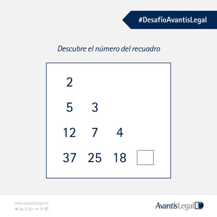 Este jueves te animamos a resolver otro #DesafíoAvantisLegal