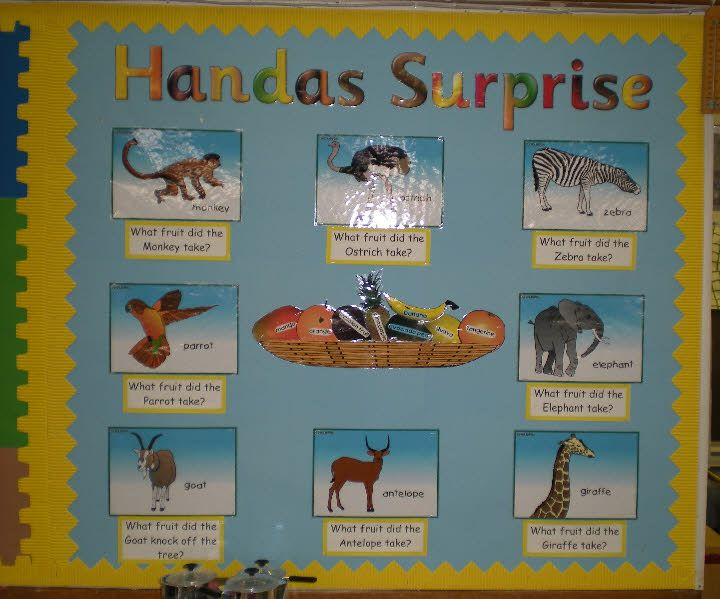 Handa's Surprise classroom display photo - Photo gallery - SparkleBox
