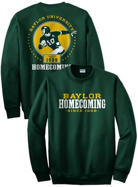 QTI IMPRINTS : Baylor University Football Homecoming Long Sleeve T Shirt :  Baylor Bookstore :