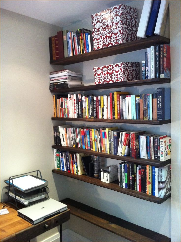 Clever organize floating bookshelves nursery floating