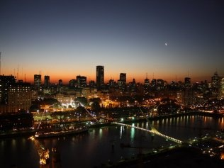 View from one of our Puerto Madero rentals in Buenos Aires, Argentina