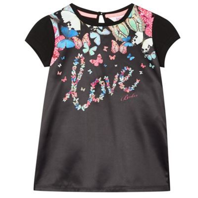 Baker by Ted Baker Girl's black 'Love' graphic top- at Debenhams.com