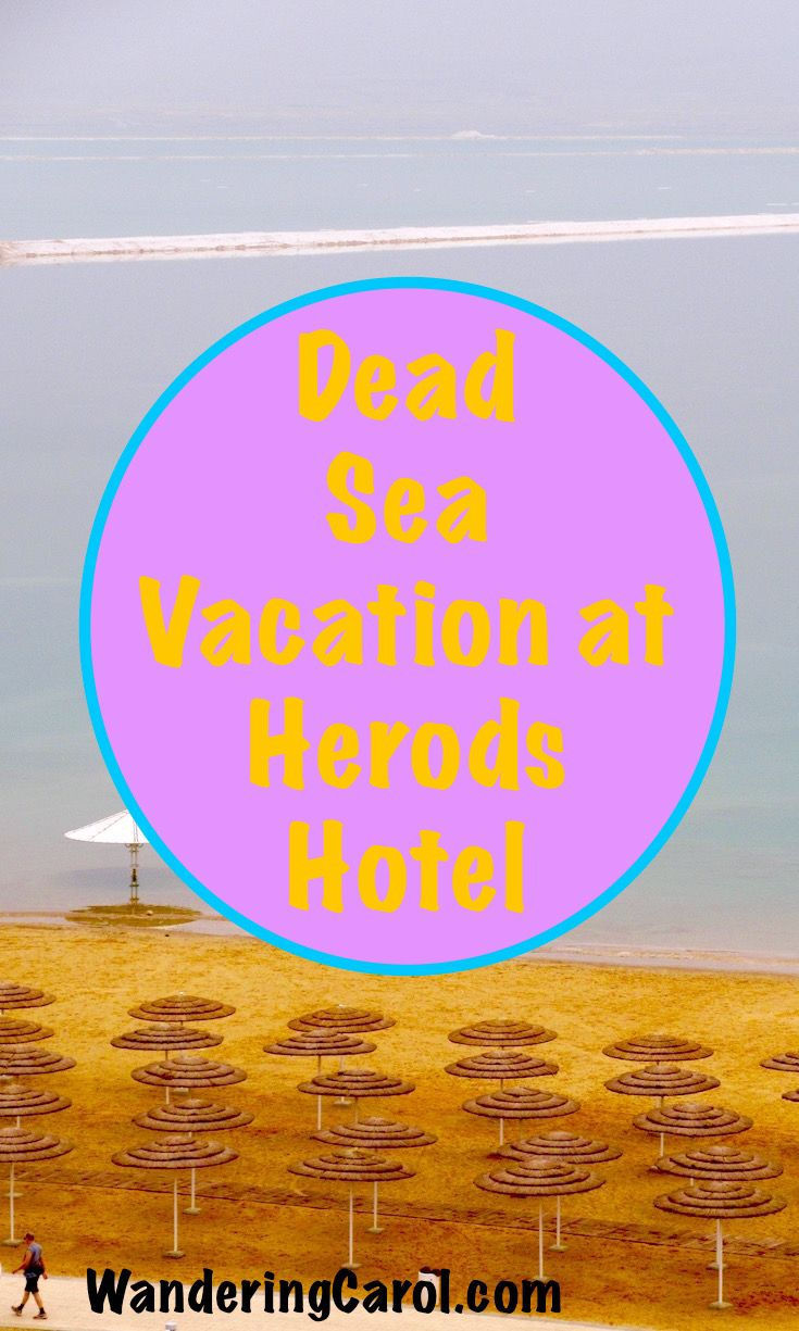 If you want to visit the Dead Sea in Israel, here's where to stay and how to spa. http://wanderingcarol.com/israel-dead-sea-hotels-herods-hotel-spa/