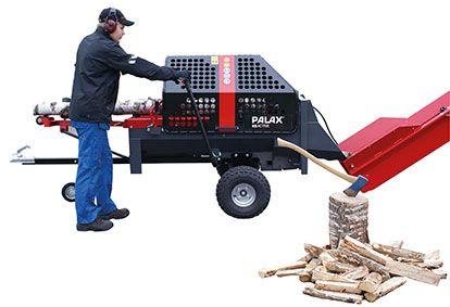 Despicator lemn tractabil tip remorca, marca Palax Activ.