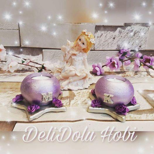 Güzel bir arkadasa güzel bir doğum günü hediyesi oldu mumuluklarım 💜💜 Nice sağlıklı musmutlu yıllar canım 😙 #kokulutas #kokulutastasarim #mumluk #evdekorasyonu #home #homedecor #decoration #gift #hediye #romantik #romantic #love #lila #ask #kokosh #kokoş #tealight #lights #candels #sunum #delidolu #izmit #kar #ask #instagood