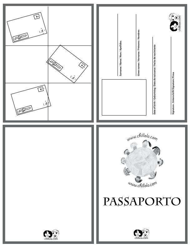 passport italian - passport template - passport for kids -  passport - www.chillola.com