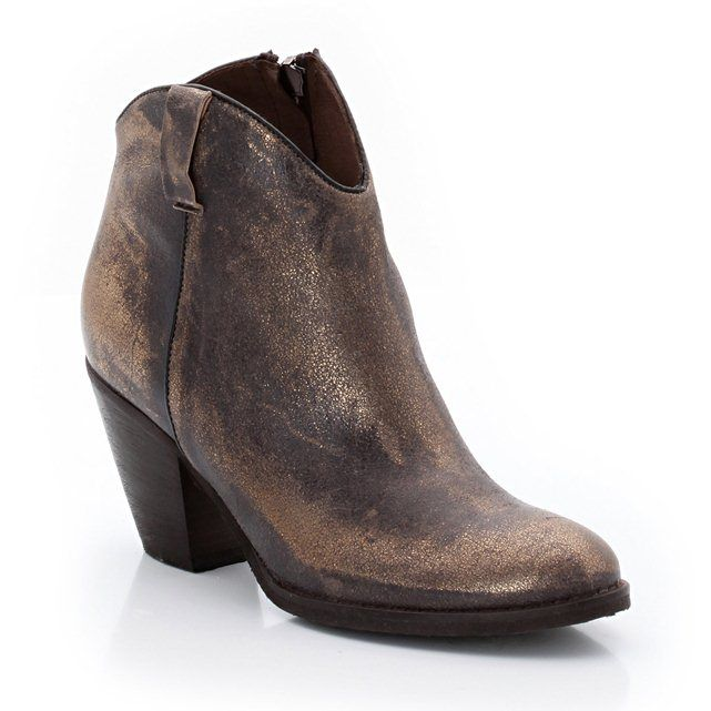 Boots, western stijl, metallic vaarsleer, met rits JONAK