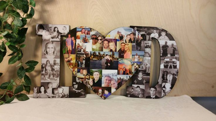 Custom photo collage for a wedding showcase!  A cute way to show off the bride and groom photos at their wedding.