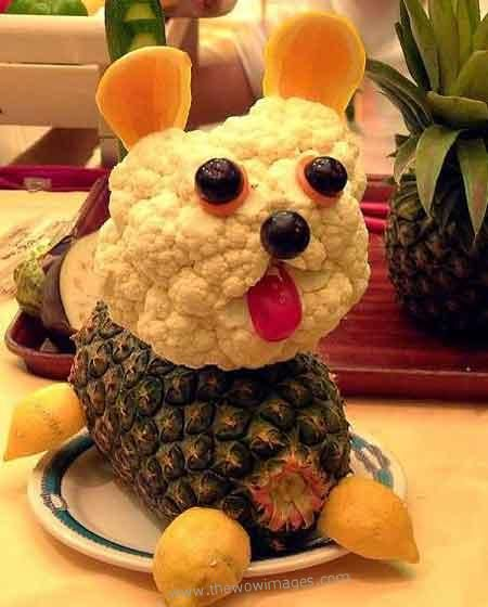 vegetable decoration 4 Interesting And Creative Food Decoration Ideas