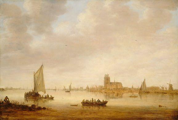 Jan van Goyen - Gezicht op Dordrecht vanaf de Dordtse Kil