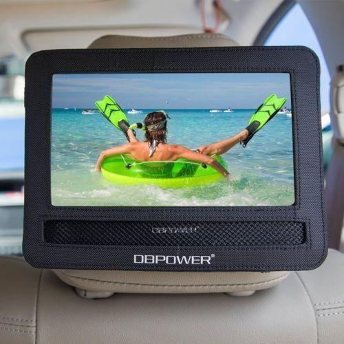 car dvd player case headrest moust holder strap swivel flip portable kids screen