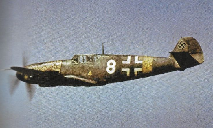 "Messerschmitt Bf 109F-4 ""WHITE 8"" I./JG 52 Kharkov sector June 1942 Luftwaffe in color 1942-45"