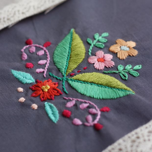 DIY Folk Flower Tote | Inspired by Mexican Embroidery - free pattern @ eHow Crafts