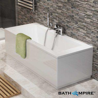 1700x750x545mm Square Double Ended Bath - BathEmpire