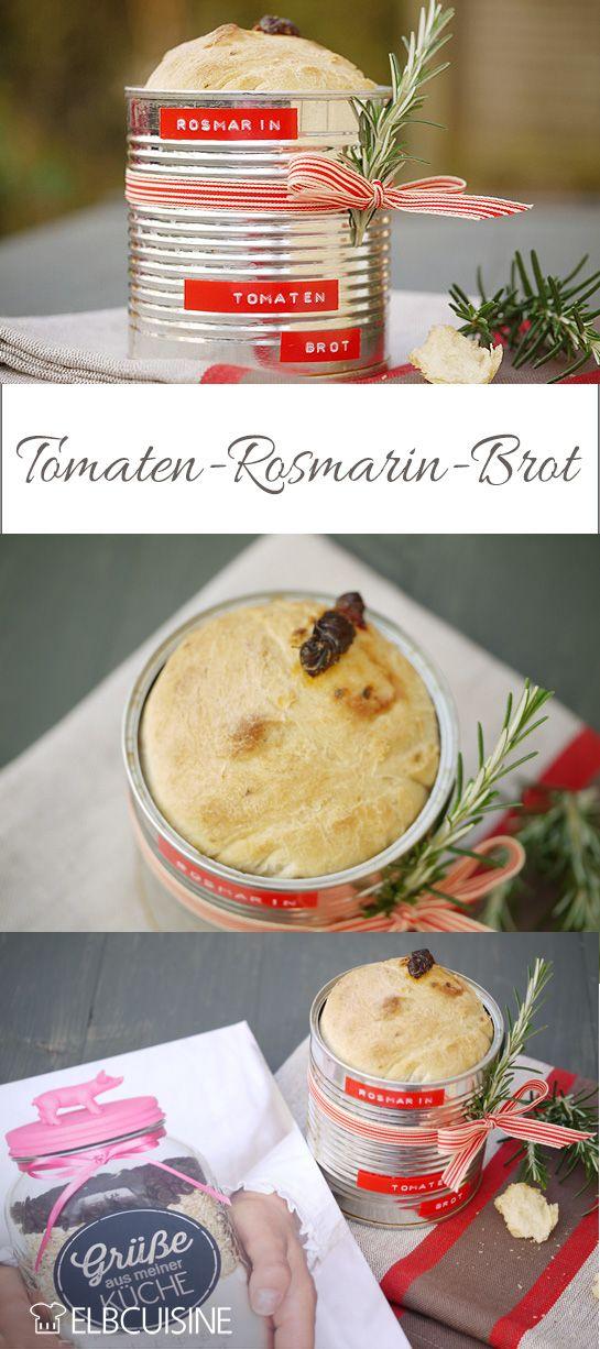 Tomaten Rosmarin Brot in der Büchse