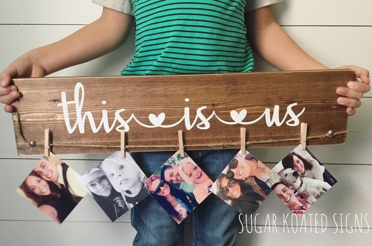 This Is Us Wood Sign // Memories // Gift // Christmas Gift // Birthday // Photo Display // Family //