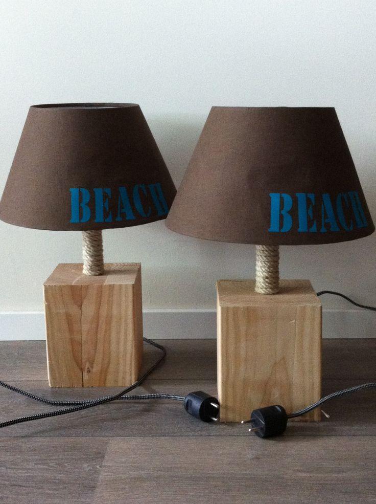 Zelfgemaakte lampen... Strandlook