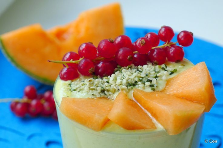 Smoothie met meloen, yoghurt en rooibos recept ~ minder koolhydraten, maximale smaak ~ www.con-serveert.nl