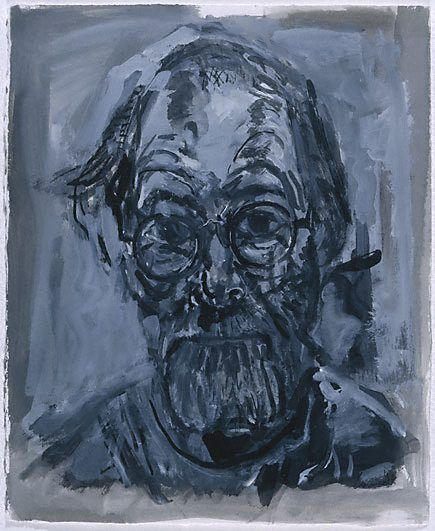Kevin Connor, Self Portrait III, 1992, black ink and gouache,