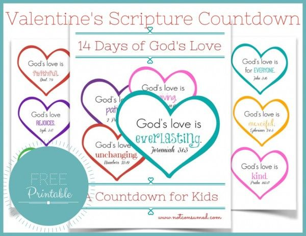 14 Days of God's Love {A Valentine's Countdown for Kids} - not consumed