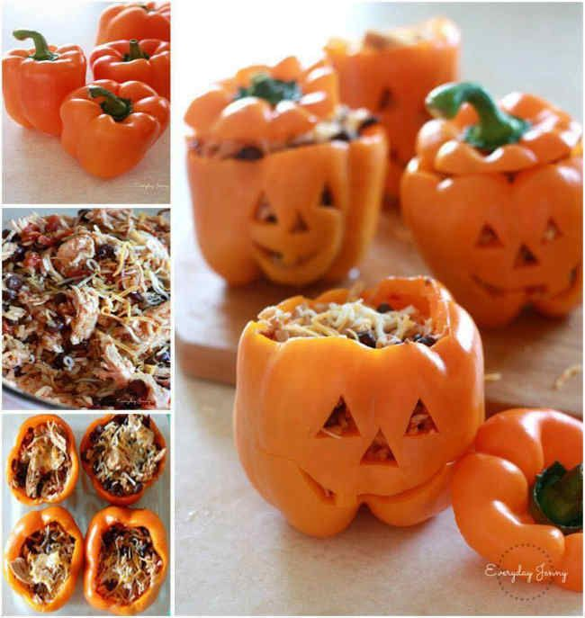 Shredded Chicken and Rice Stuffed Pepper Recipe- A Great Halloween Dinner! I love stuffed peppers but nothing says halloween like this dish I am sharing with you all today! I am not a big halloween fan but I do like to eat halloween foods! This will make your family smile if served around halloween. The … Continue reading »