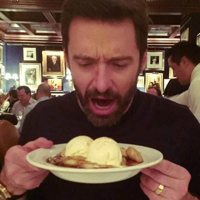 Hugh Jackman with his Wolverine diet...