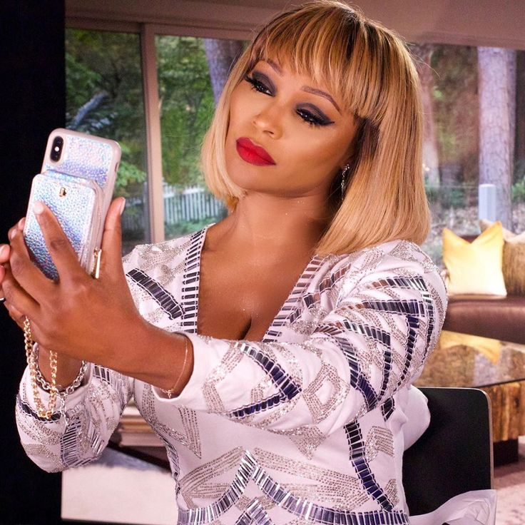 Cynthia Bailey on Instagram wearing the HOLO iPhone X/XS