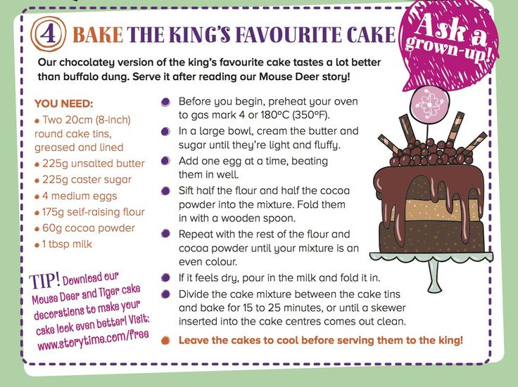 Bake a chocolate cake fit for a king inspired by our Mouse Deer and Tiger international tale in Storytime Issue 22! ~ STORYTIMEMAGAZINE.COM