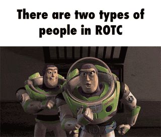 There are two types of people in ROTC GIF