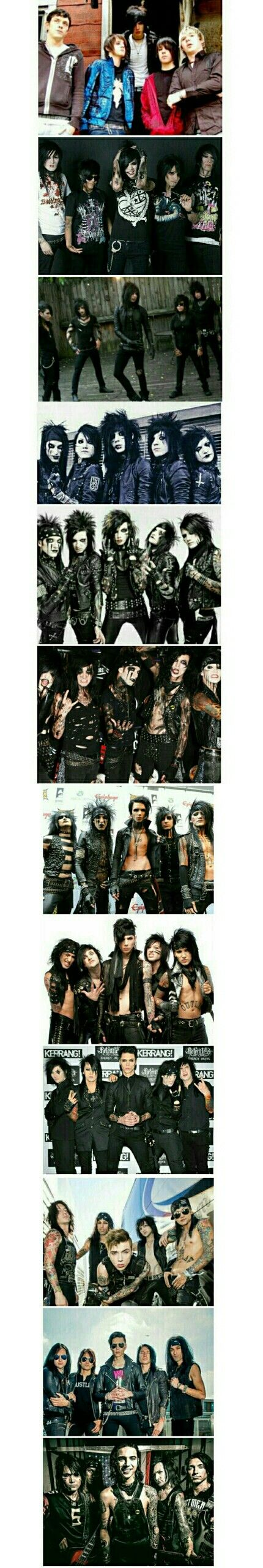 Black Veil Brides over the years.