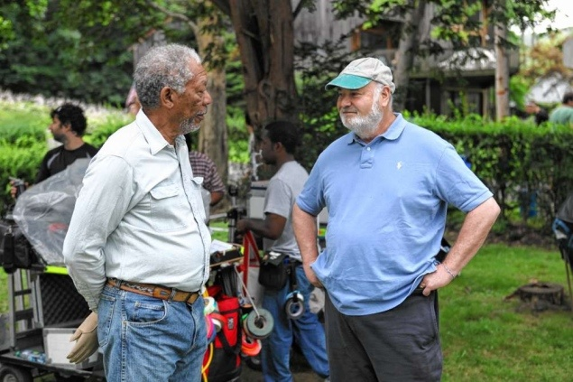 Morgan Freeman plays a cranky neighbor in 'The Magic of Belle Isle,' directed by Rob Reiner.
