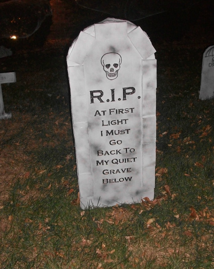 75 best images about Halloween Graves, Tombstones and  ~ 204817_Halloween Decorating Ideas Tombstones