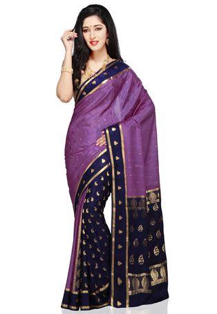 http://www.utsavfashion.com/saree/purple-and-dark-blue-pure-mysore-silk-saree-with-blouse/stc308-itemcode