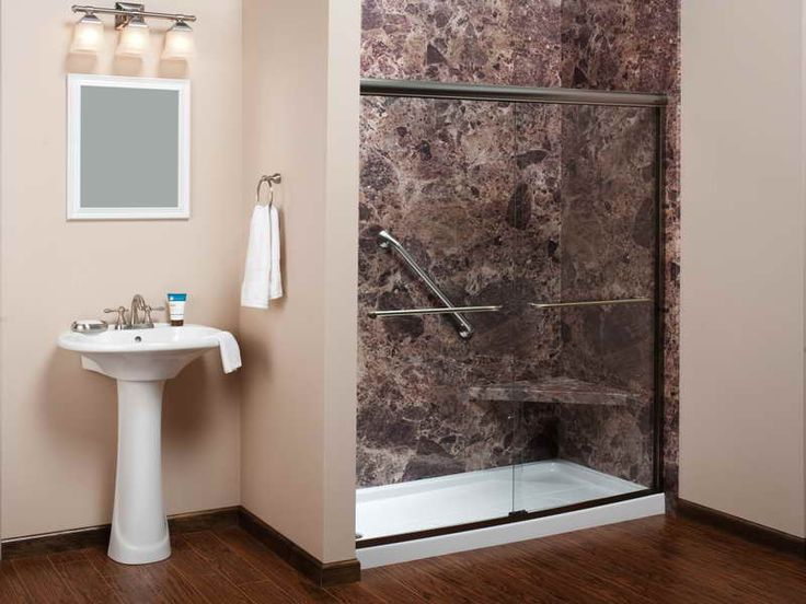 Small Bathroom Decor   Contemporary Small Bathroom Makeovers with HArswood Flooring