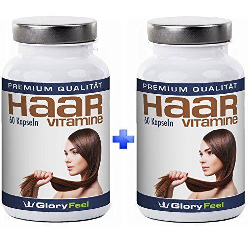 Haar Vitamine Kapseln + Biotin - 2 Dosen im Set f�r die 2-Monatskur - Hochdosiert und Rein, Vitamine f�r die Haare + Biotin, Zink, Pantothens�ure und Vitamin A, C, E, B1, B2, B6, B12 - 120 vegane Kapseln - Premiumqualit�t Deutscher Herstellung