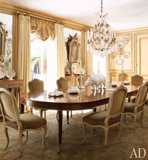Look Inside Jorge Eliass Neoclassical Style Mansion In Sao Paulo Traditional Dining RoomsTraditional InteriorTraditional DesignDining