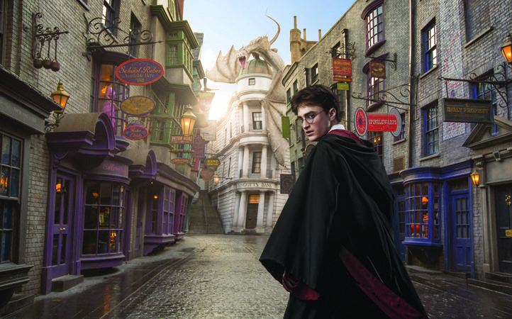 Diagon Alley at Universal Studios Florida Wizarding World of Harry Potter