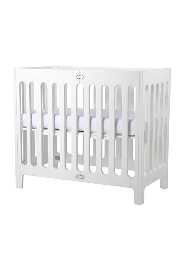 Bloom Alma Mini Urban Crib Frame Coconut White Cribs Baby Decor Nursery Inspiration