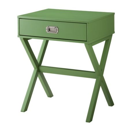 Threshold Campaign Side Table, Green   Modern   Side Tables And Accent  Tables   By Target