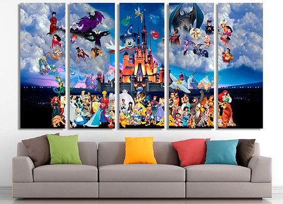 Disney, Disney Canvas, Disney Wall Art, Disney Print, Disney Art, Nursery  Wall Decor, Disney Kids Art, Disney Poster ********************** Product  Is Ready ...