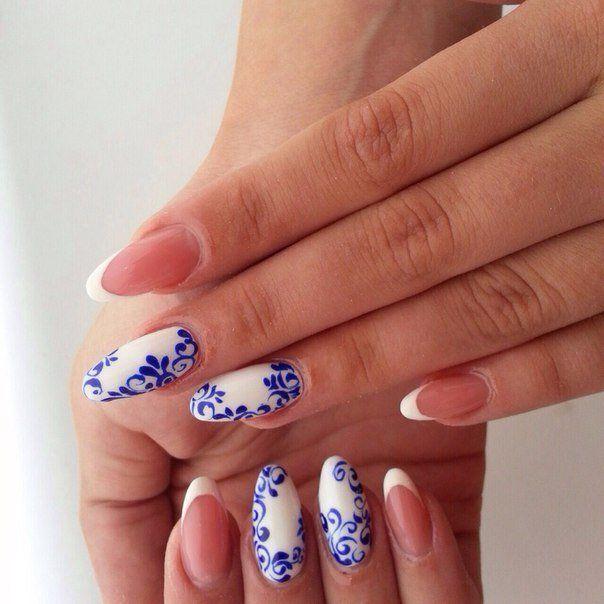 френч на круглых ногтях фото 2016 новинки