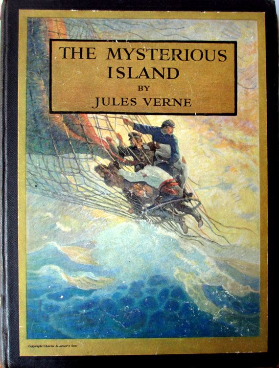 The Mysterious Island Jules Verne, Illustrated by N.C. Wyeth, Published by Charles Scribner's Sons 1918, New York NY. https://www.etsy.com/uk/shop/Falkingbridge