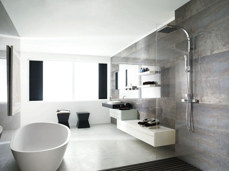 Metallic tiles bathroom google search metallic tiled - Faience salle de bain contemporaine ...